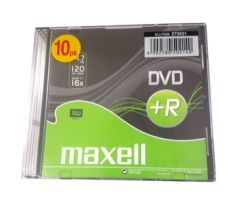 DVD+R MAXELL 4,7GB 16X Slim box 10ks (275631)