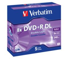 DVD+R Double Layer Matt Silver 8x (43541)