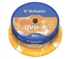 DVD-R VERBATIM 4,7GB 16X 25ks/spindel (43522)