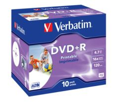 DVD+R VERBATIM Printable 4,7GB 16X 10ks/bal. (43508)