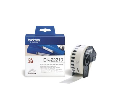rolka BROTHER DK22210 Continuous Paper Tape (Biela 29mm) (DK22210)