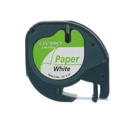 páska DYMO 59421 LetraTag White Paper Tape (12mm) (S0721520/S0721500)